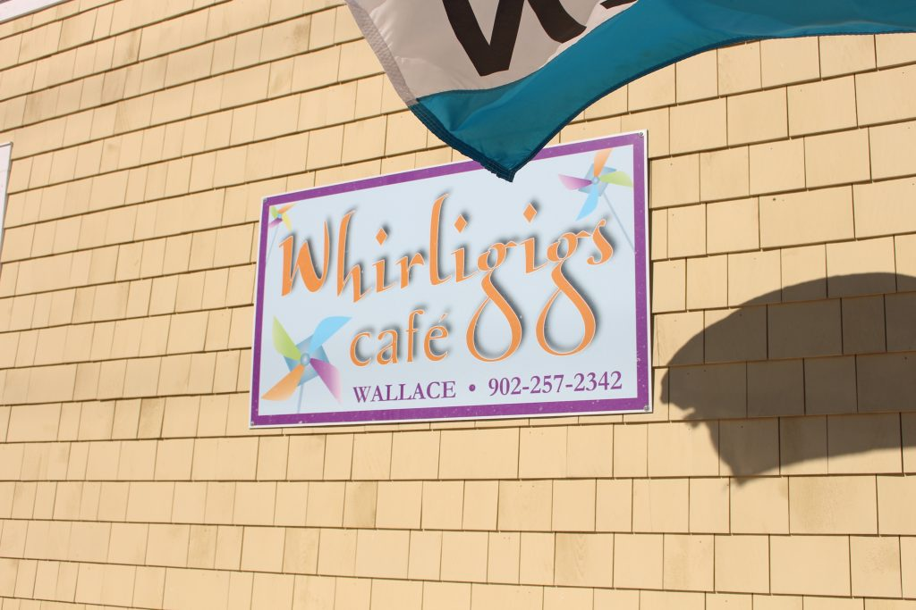 Whirligigs sign